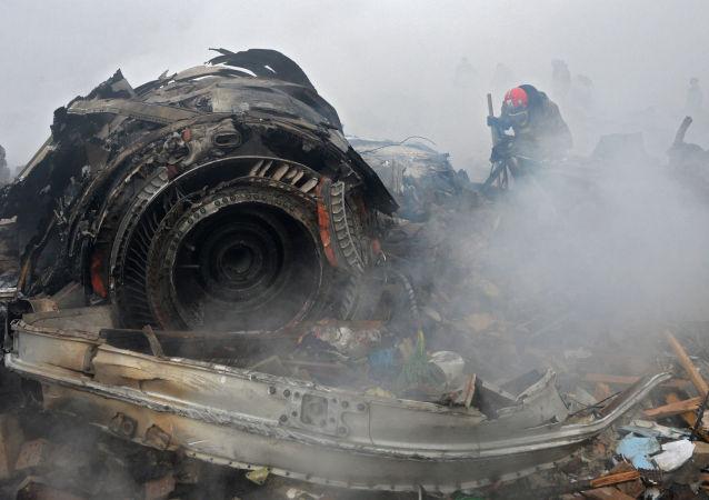 تحطم طائرة تركية