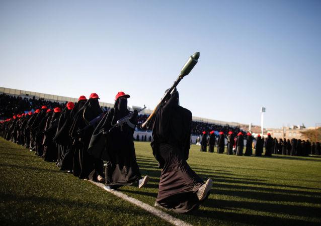 العرض العسكري للحوثيات في العاصمة صنعاء، 17 يناير/ كانون الثاني 2017