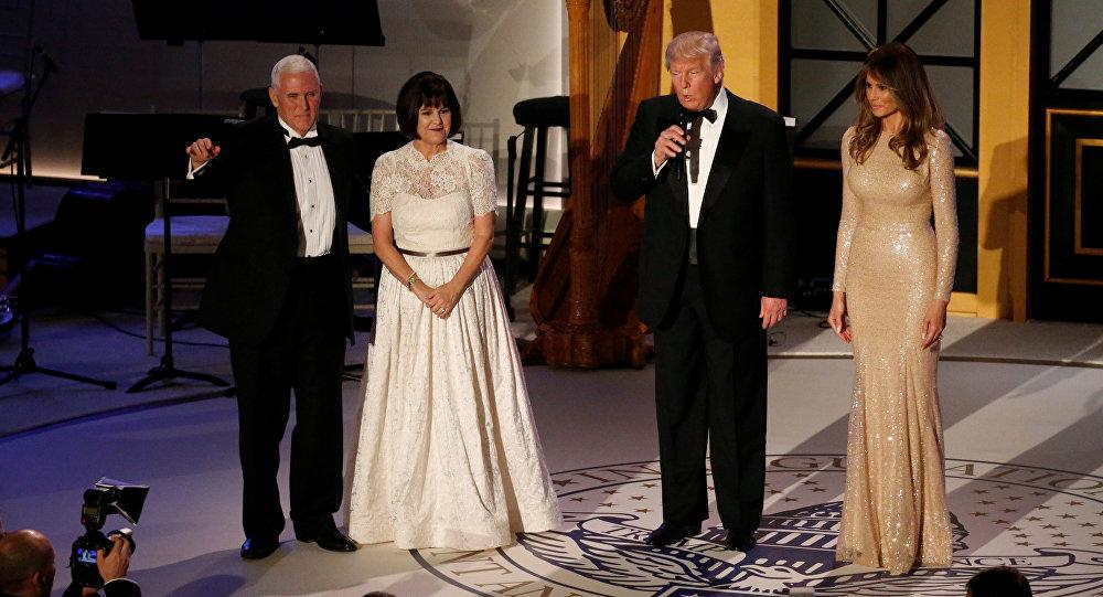 حفل عشاء يجمع الرئيس الأمريكي دونالد ترامب