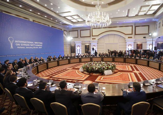 محادثات أستانا بين وفود روسيا وإيران وتركيا