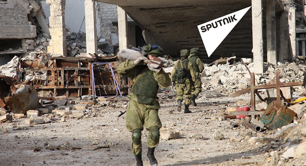 إزالة الالغام في حلب