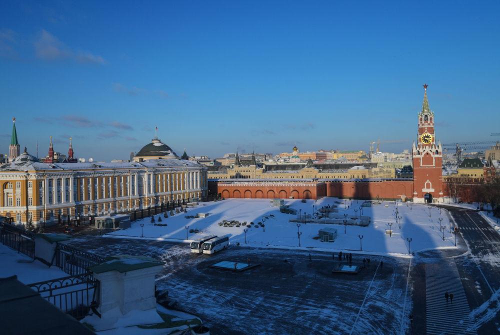 منظر يطل على حرم الكرملين في موسكو