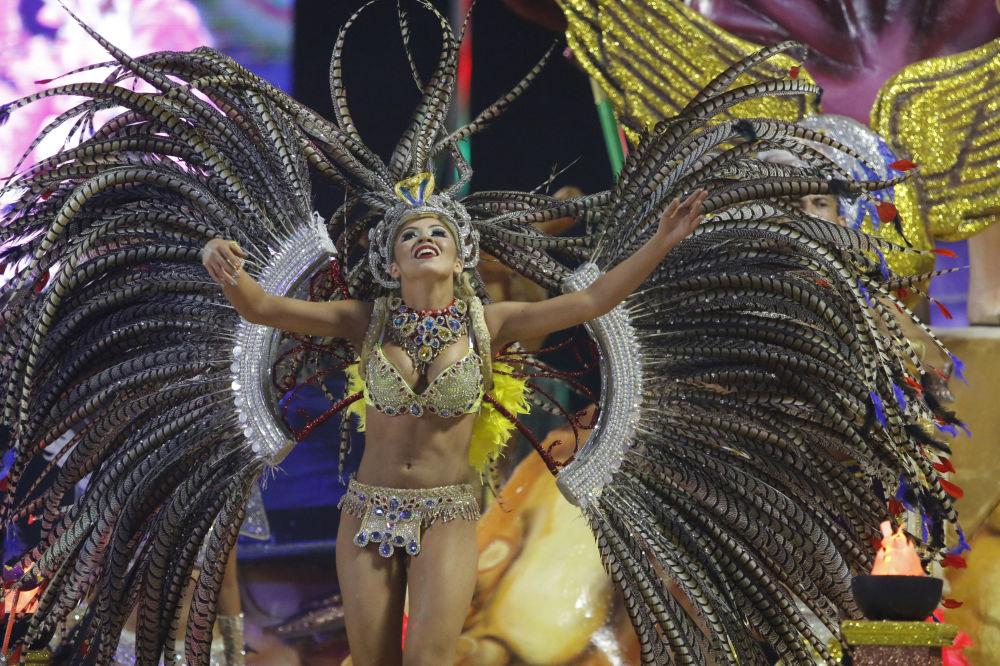 مهرجان الرقص في مدينة إنكارناسيون، باراغواي 29 يناير/ كانون الثاني 2017
