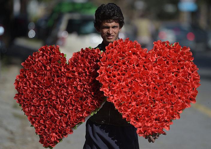 بائع الورود في إسلام آباد، باكستان
