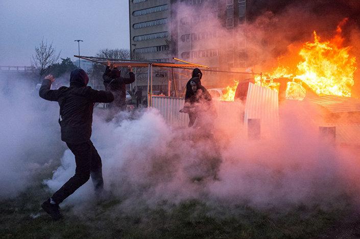 احتجاجات في بوبينيه، بضاحية باريس، فرنسا