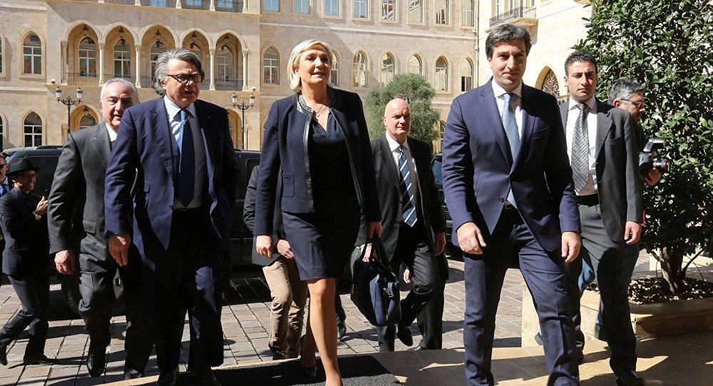 المرشحة للانتخابات الرئاسية الفرنسية مارين لوبن