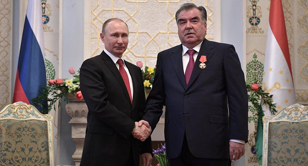 الرئيس الروسي والطاجيكستاني