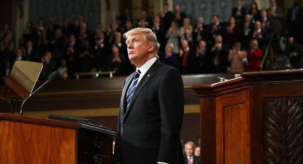 الرئيس الأمريكي دونالد ترامب يلقي خطابه الأول أمام الكونغرس الأمريكي