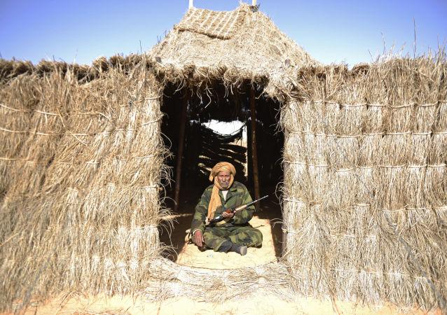 حرس الحدود على الحدود المغربية في الصحراء الغربية