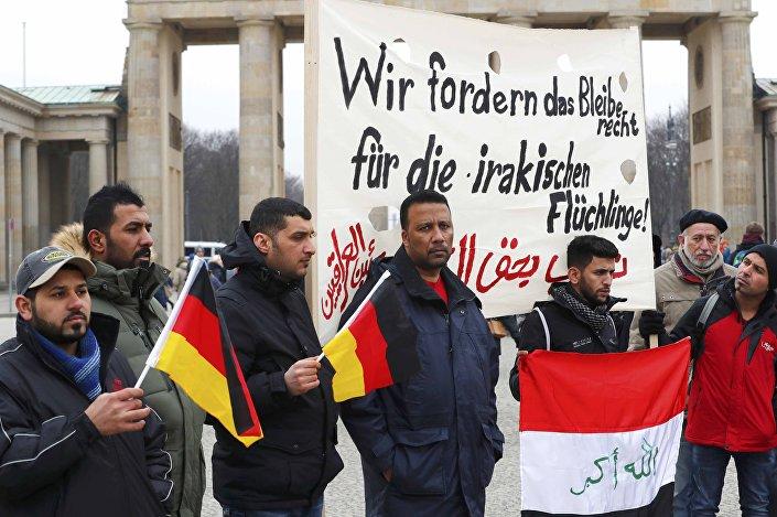 مظاهرة ضد ترحيل اللاجئين من ألمانيا