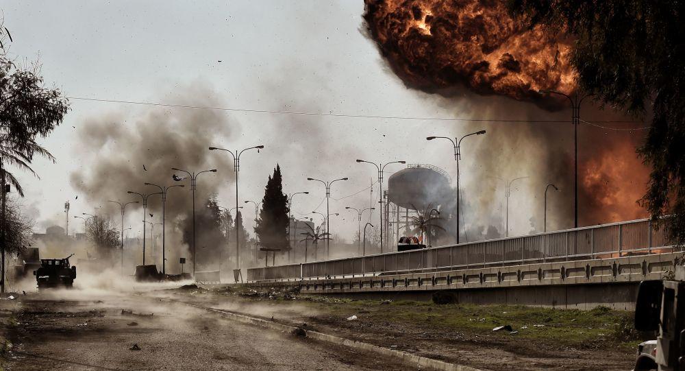 انجفارات في الموصل، العراق 5 مارس/ آذار 2017
