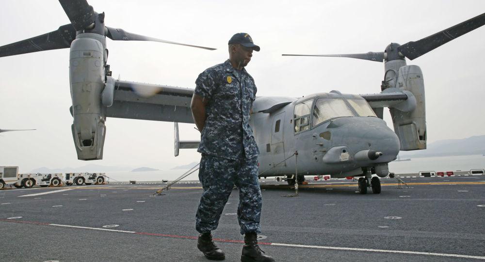 طائرة تابعة لقوات مشاة البحرية الأمريكية
