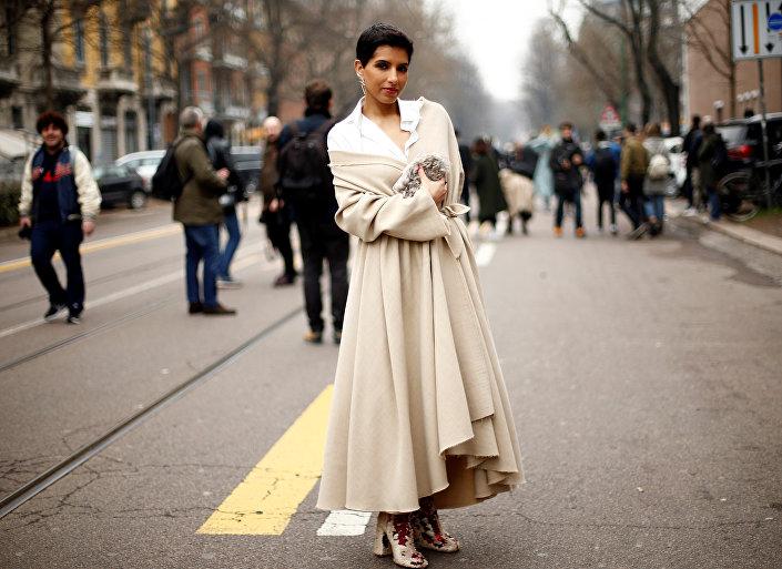 الأميرة السعودية دينا الجهاني عبد العزيز ورئيس تحرير مجلة فوغ آرابيا