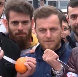 مظاهرات تركية ضد هولندا