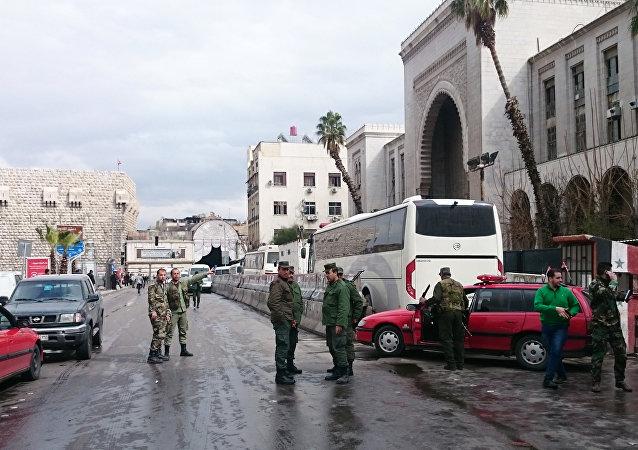 انفجار بمبنى القصر العدلي في منطقة سوق الحميدية بدمشق.