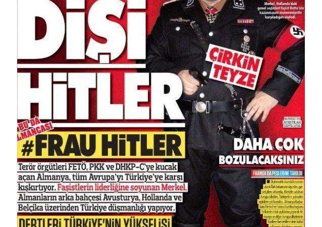 ميركل بعنوان السيدة هتلر
