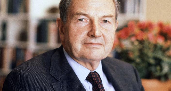 الملياردير الأمريكي دافيد روكفيلير ، عام 1981