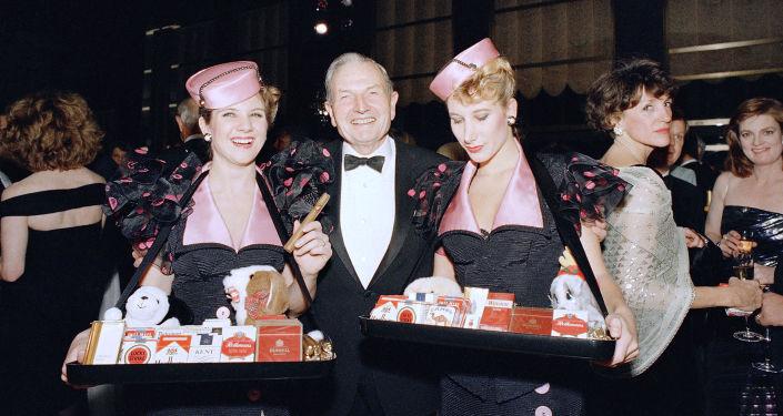 الملياردير الأمريكي دافيد روكفيلير ، نيويورك عام 1987