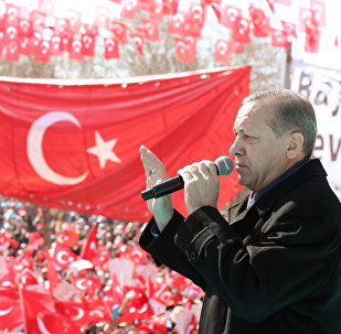 رئيس تركيا رجب طيب إردوغان في غازي عنتاب، 19 فبراير/ شباط 2017