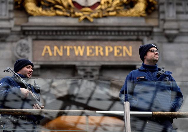 قوات الشرطة البلجيكية في أونتويرب، بلجيكا3 3 مارس/ آذار 2017