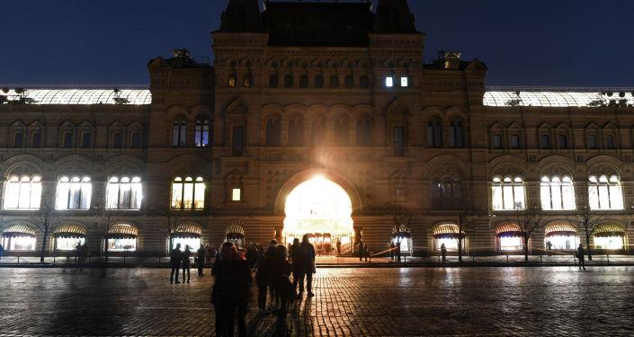 ساعة الأرض-2017 في الساحة الحمراء، موسكو