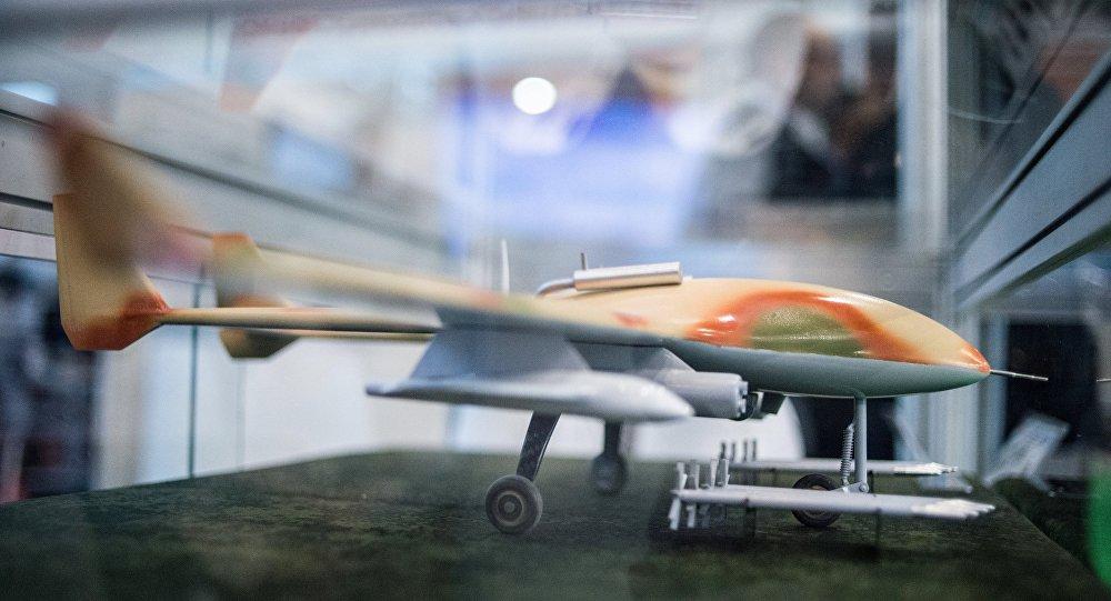 نموذج مصغر لطائرة حربية بدون طيار