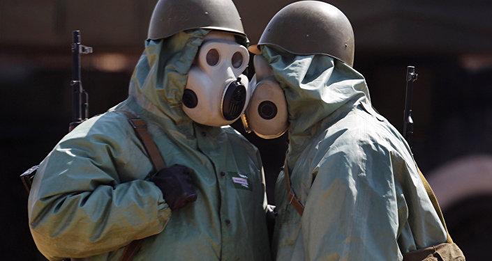 الجنود خلال التدريبات