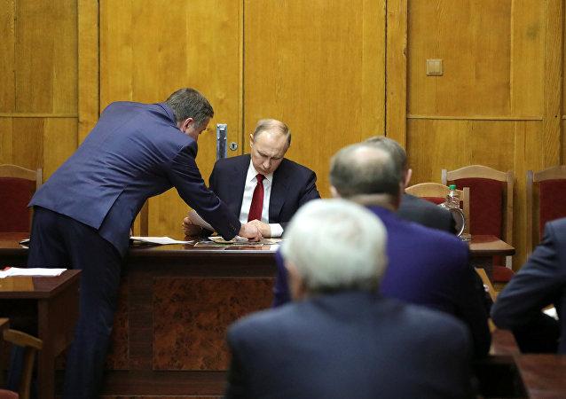 بوتين يرأس اجتماع الأمن الفدرالي الروسي