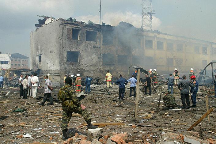 عملية إرهلبية في سيارة بجوار مبنى في نازارني، 17 أغسطس/ آب 2009