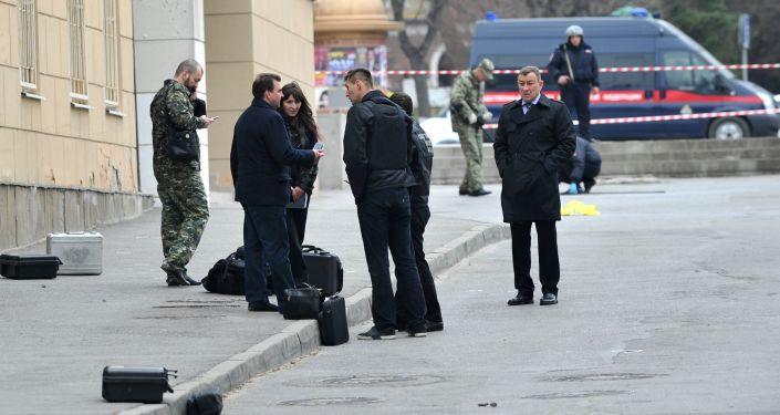 مكان الحادث في روستوف على الدون
