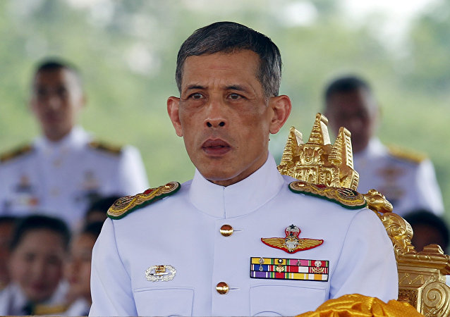 Thailand's Crown Prince Maha Vajiralongkorn watches the annual Royal Ploughing Ceremony in central Bangkok. (File)