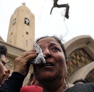 تفجير كنيسة مار جرجس في مدينة طنطا بمحافظة الغربية في مصر