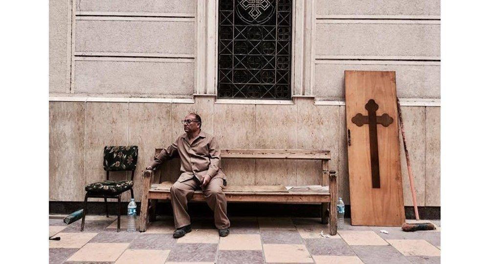 تفجير كنيسة مار جرجس بمدينة طنطا في مصر