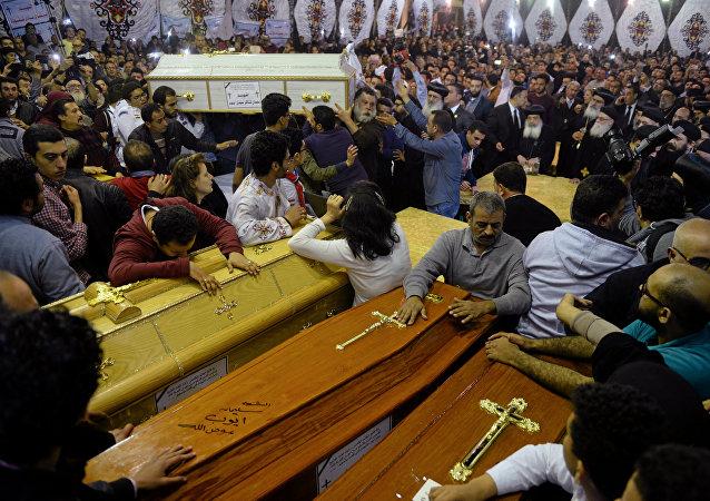 جنازة شهداء كنيسة مارجرجس في طنطا