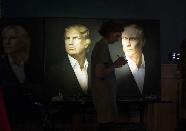 صورتا بوتين وترامب