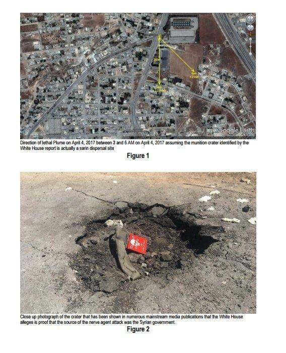 تقرير يفند الإدعاءات الأمريكية حول هجوم الكيماوي على خان شيخون