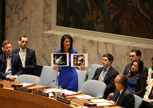 نيكي هيلي السفيرة الأمريكية لدى الأمم المتحدة