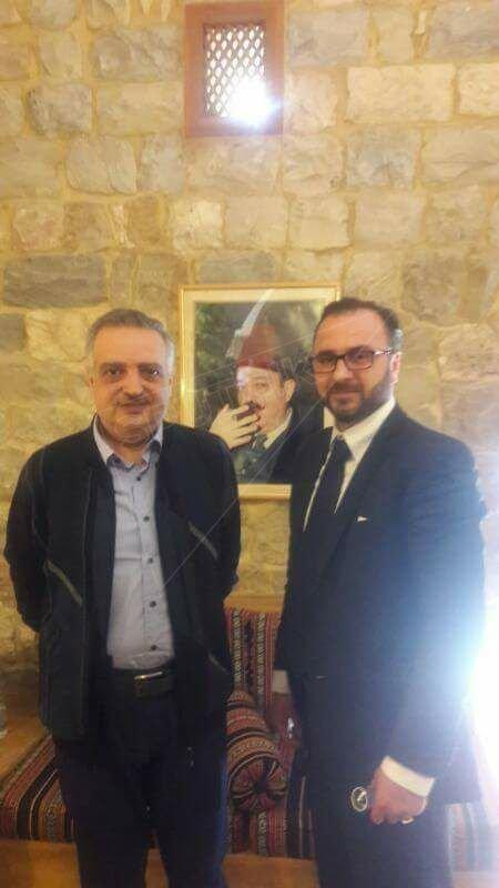 معالي وزير المهجرين ورئيس الحزب الديمقراطي اللبناني المير طلال أرسلان