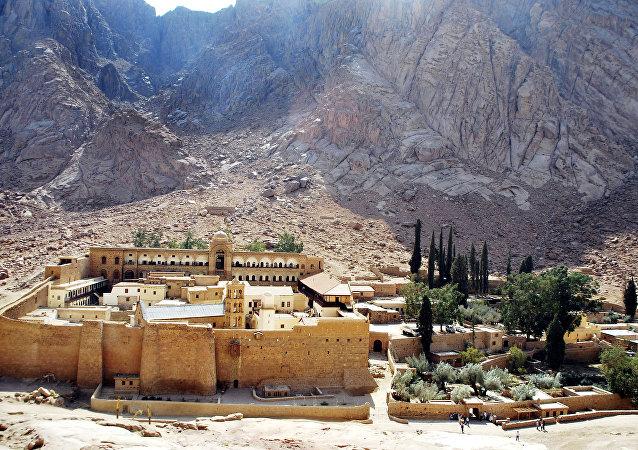 دير سانت كاترين بجنوب سيناء في مصر