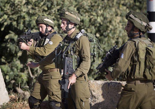 الجيش الإسرائيلي بالقرب من نابلس، الضفة الغربية، فلسطين