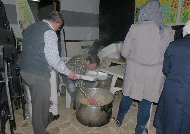 استنفار اللجان الأهلية أثناء وصول سكان كفريا والفوعة