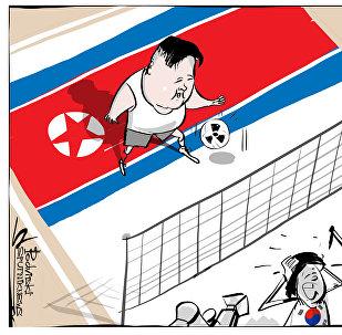 الكرة الطائرة الكورية الشمالية تقلق الجيش الأمريكي
