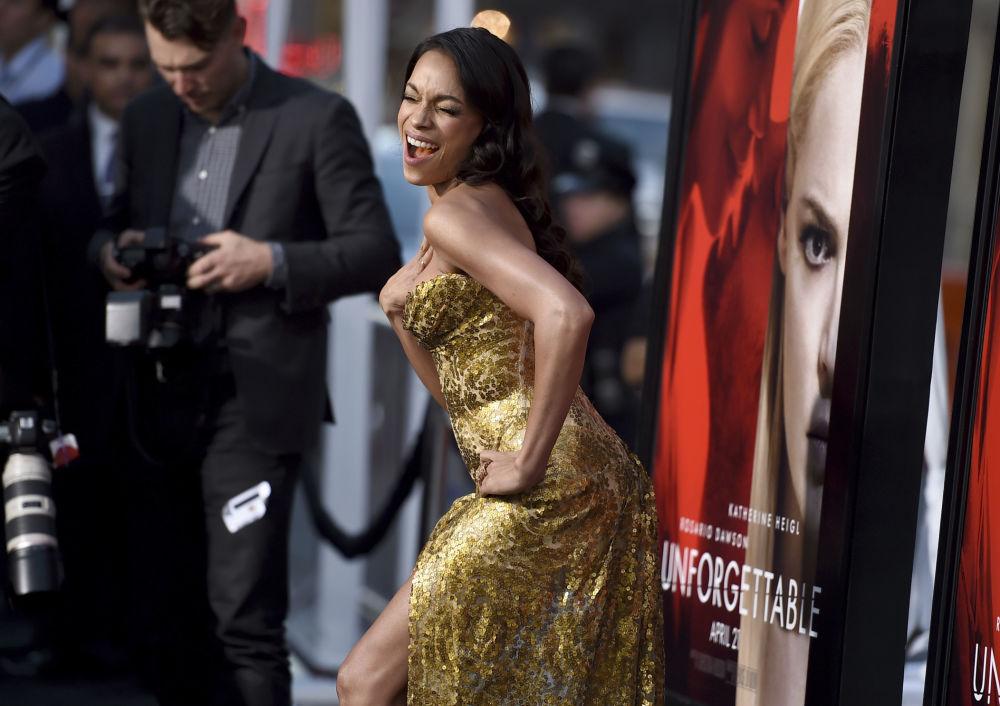 الممثلة الأمريكية خلال حضورها لمراسم افتتاح الفيلم Unforgettable في لوس أنجلوس، الولايات المتحدة 18 أبريل/ نيسان 2017
