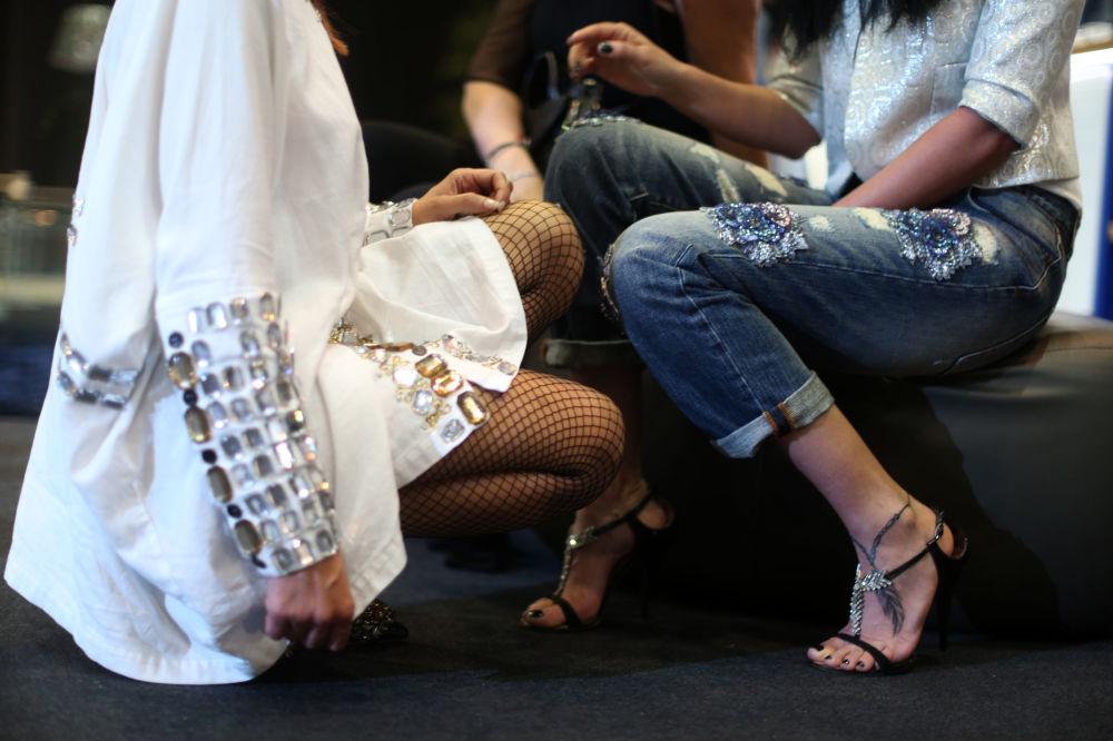 اللبنانيات خلال عرض أسبوع الموضة في بيروت، لبنان 19 أبريل/ نيسان 2017