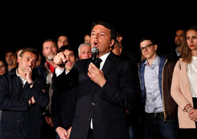 رئيس الوزراء الإيطالي السابق ماتيو رينتسي
