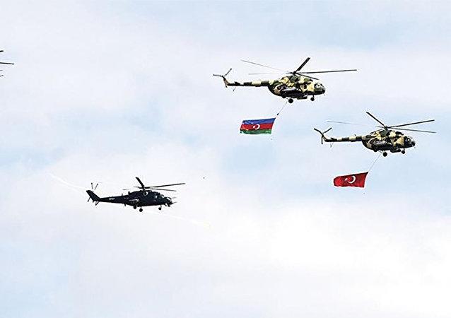 تدريبات عسكرية تركية أذربيجانية