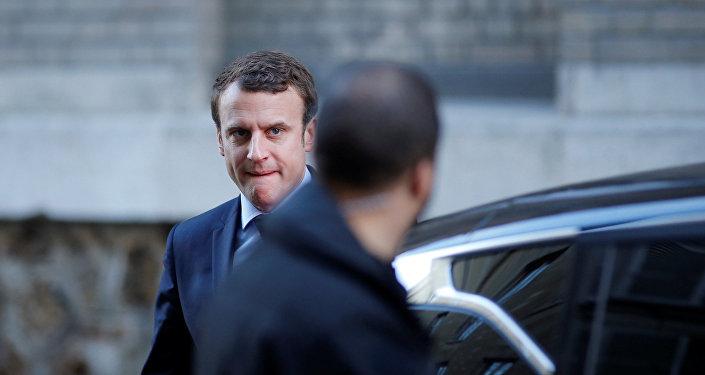 مرشح الانتخابات الرئاسية الفرنسية إيمانويل ماكرون
