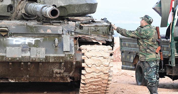 القوات الحكومية السورية في مدينة حلفايا