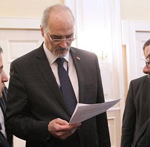 مندوب سوريا الدائم لدى الأمم المتحدة رئيس وفد الحكومة السورية إلى أستانا، بشار الجعفري