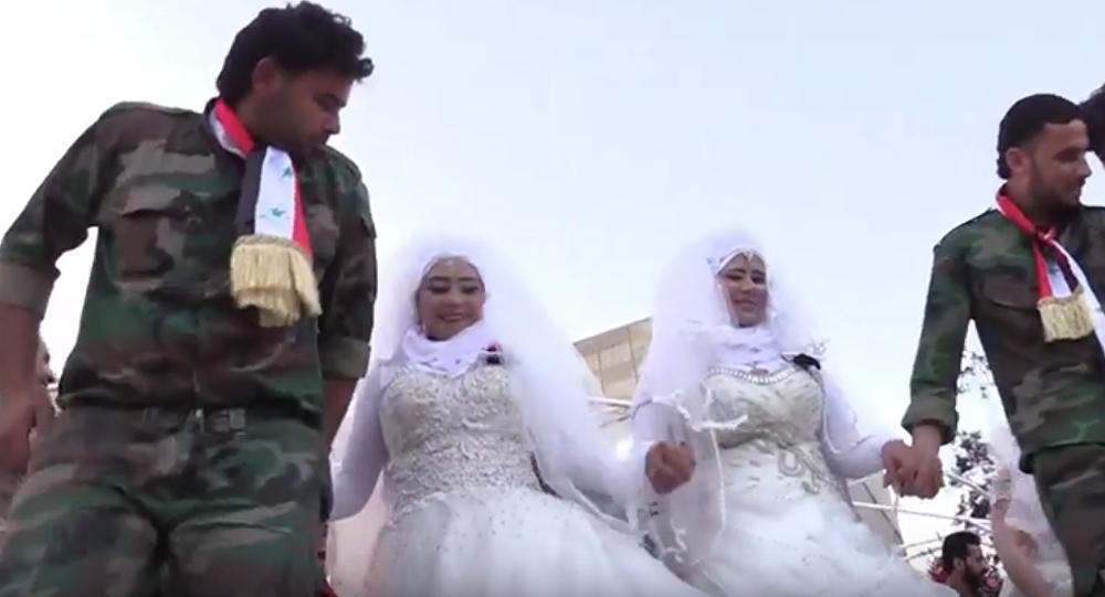 زفاف جماعي في حلب